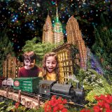 Photo of kids in the Holiday Train Show