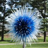 Dale Chihuly's Sapphire Star displayed in the Garden's landscape.