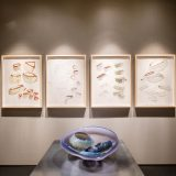 Dale Chihuly's early works on display in the Library gallery.