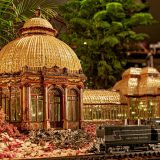 A model of the Conservatory made from plant parts.