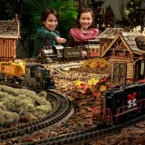 Children enjoying the Holiday Train Show.
