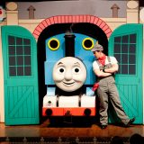 Thomas and Driver Sam at the All Aboard with Thomas & Friends™ show.