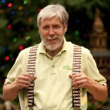 Photo of Paul Busse, the holiday train show artist