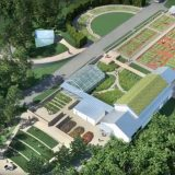 Aerial shot of the Edible Academy