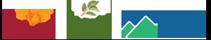 The logos for Green Mountain Energy, Sabra, and Simply Organic.