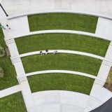 Aerial view of the Amphitheater for Edible Academy