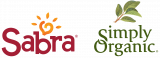 The logos for Sabra and Simply Organic