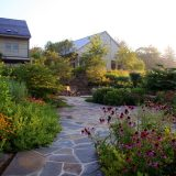 photo of garden and house from Larry Weaner