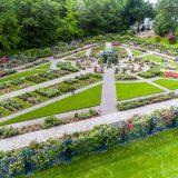 Drone shot of Rose Garden.
