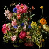 Floral arrangement with pinks and yellows