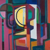 Bright colored painting by Roberto Burle Marx
