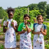 Photo of kids in the Edible Academy