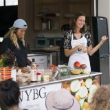 Photo of a cooking demonstration with Annie Novak