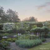 Photo of a sunset garden