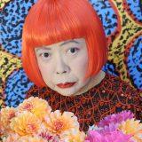 Kusama with chrysanthemums