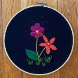 Botanical embroidery