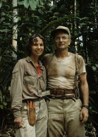 Photo of Carol Gracie and Scott Mori in Amazonas Brazil. Photographer not known.