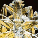 an up close view of an artistic ice sculpture