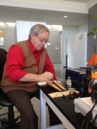 Photo of Dennis Stevenson in the laboratory