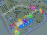 a map of the NYBG GLOW experience