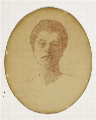 Illustrated portrait of Anna Murray Vail