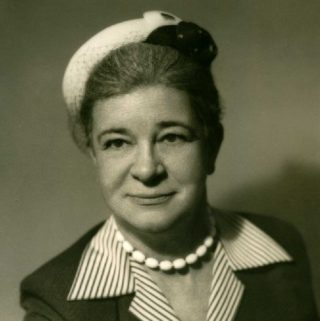 Black and white photo of Elizabeth C. Hall