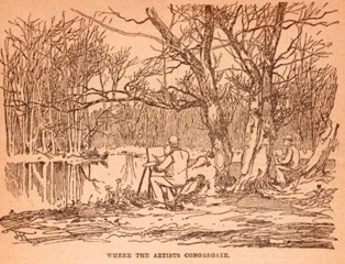 <b>The New York Botanical Garden's  Green Spaces  have always inspired Artists</b><br /> Sketch from <i>New York Herald</i>, March 22, 1891: